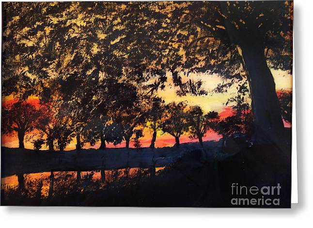 Dawn On The Canal Greeting Card