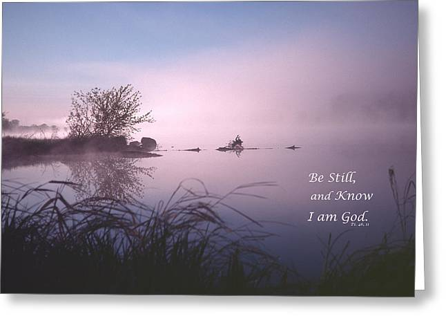 Dawn On The Chippewa River Greeting Card