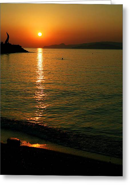 Dawn Swimmer Greeting Card