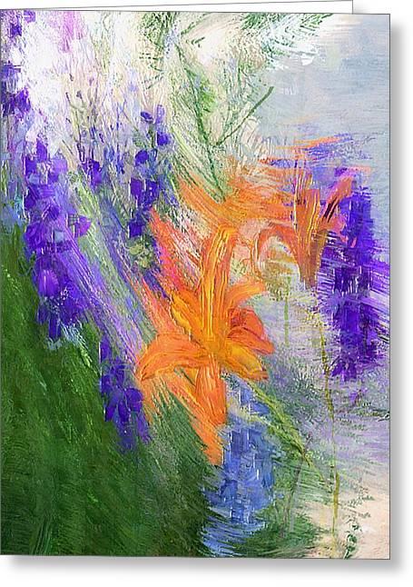 Day-glo Orange Greeting Card by Michael Van der Linden