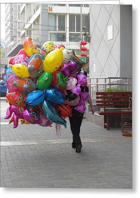 Day Of The Balloons Greeting Card by Alfred Ng