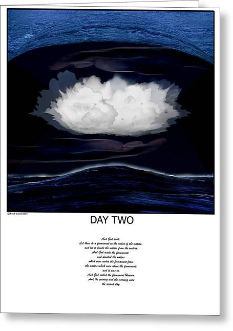 Day Two Greeting Card by Fred Leavitt