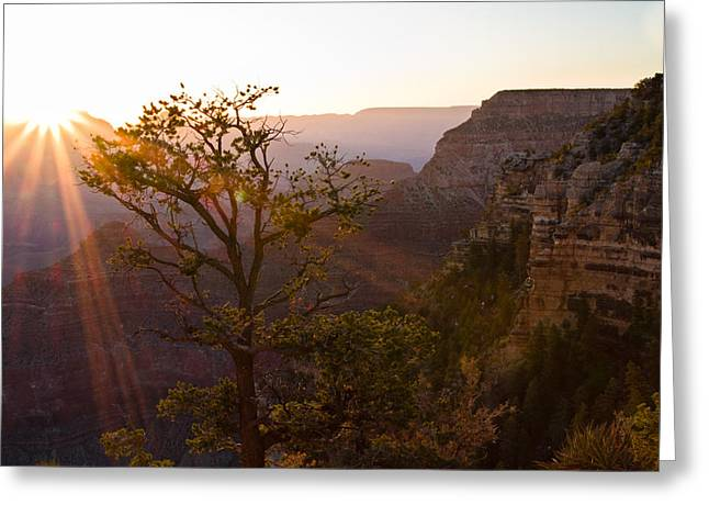 Daybreak At Mather Point Greeting Card