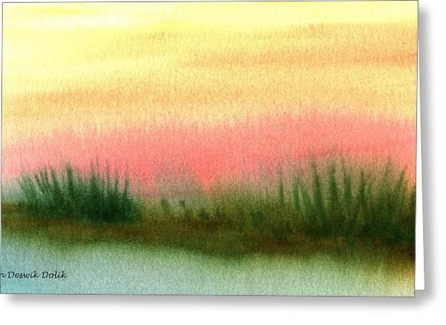 Daybreak Greeting Card by Jan Deswik