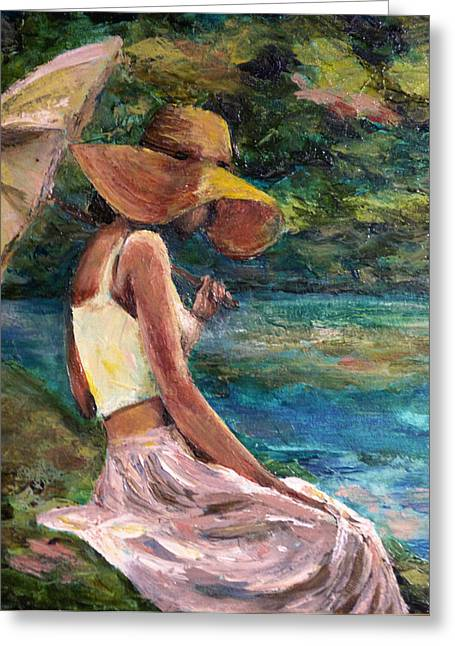 Daydreamer Greeting Card by Diana Cox
