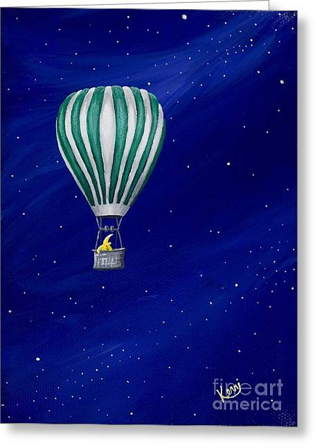 Daydreaming In A Hot Air Balloon Greeting Card