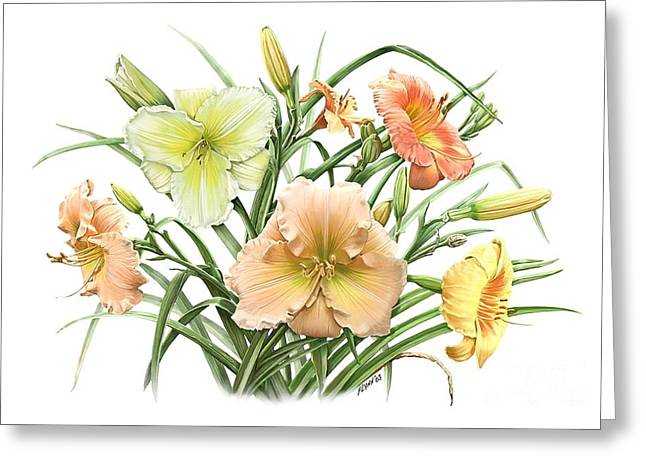 Daylily Bouquet Greeting Card