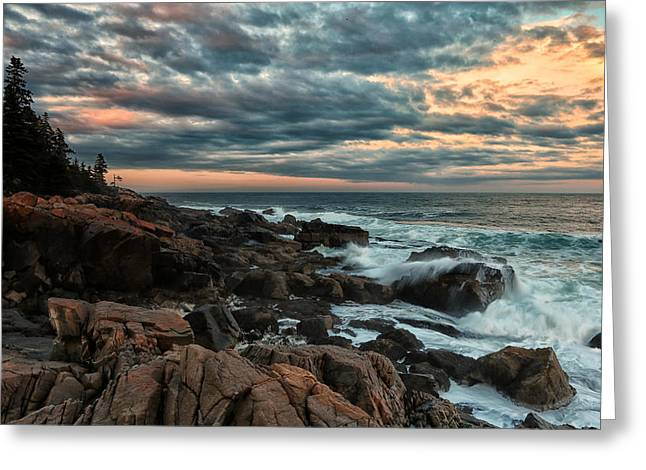 Day's End At Otter Point Greeting Card by Sara Hudock