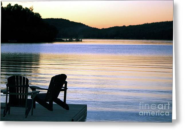 Day's End At The Lake Greeting Card