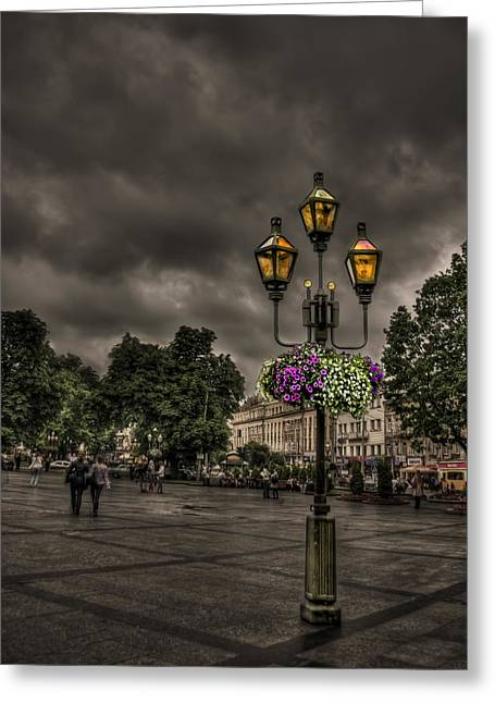 Days Of Thunder Greeting Card by Evelina Kremsdorf