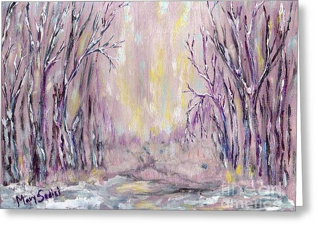 Dazzling Winter  Greeting Card by Mary Sedici