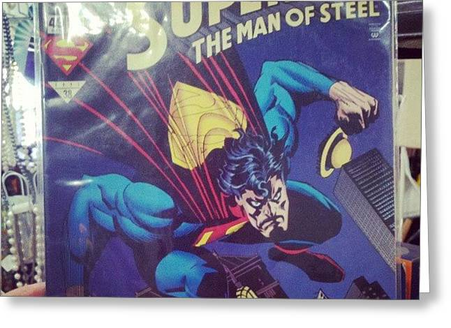 #dccomics #superman Greeting Card