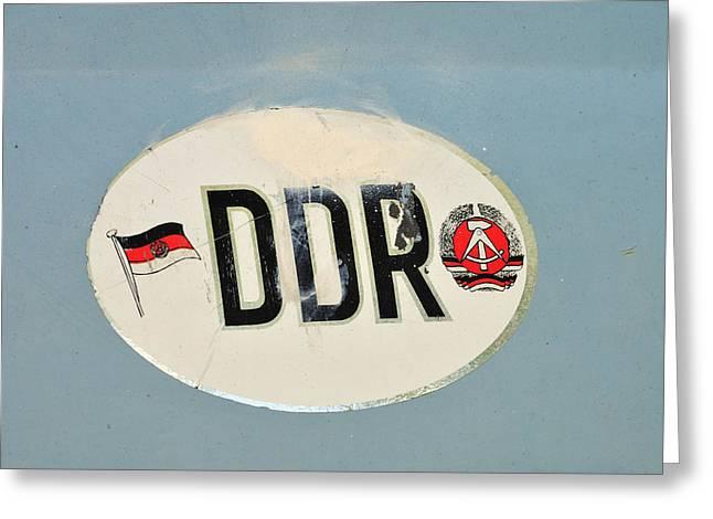 Ddr Sticker Greeting Card by Matthias Hauser