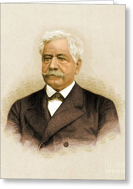 De Lesseps, French Diplomat, Suez Canal Greeting Card