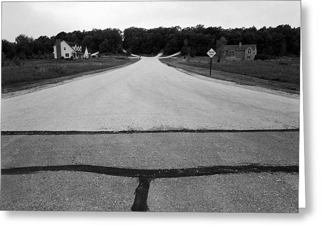 Dead End On Highway C Greeting Card by Jan W Faul