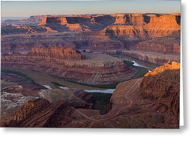 Dead Horse Point Panorama Greeting Card by Andrew Soundarajan