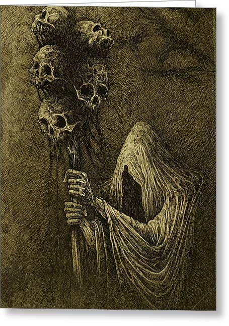 Death Greeting Card by Maciej Kamuda