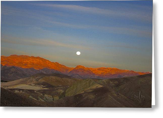 Death Valley Moonrise Greeting Card