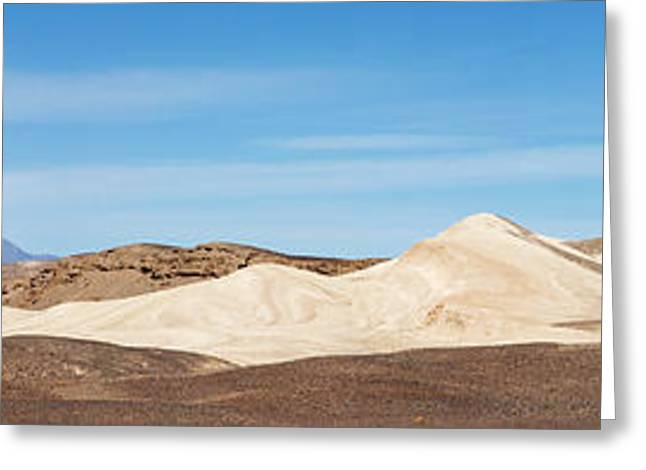 Greeting Card featuring the photograph Death Valley Mountain Panorama by Mike Irwin