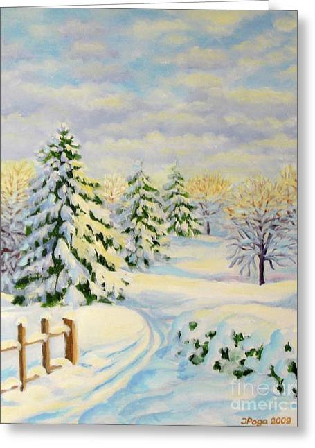 December Morning Greeting Card