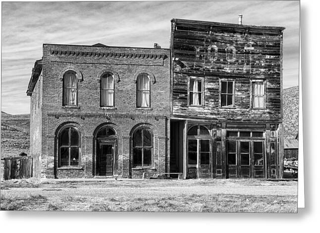Dechambeau Hotel And Ioof Hall Bodie Ca Greeting Card by Troy Montemayor