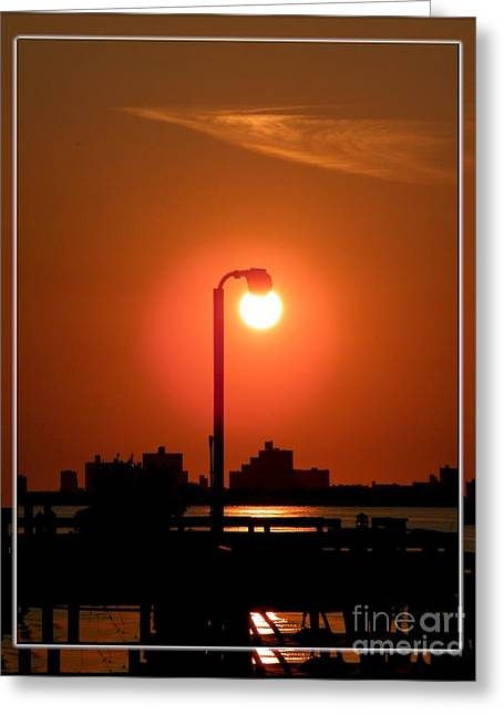 Deck Lamp Greeting Card by Laurence Oliver