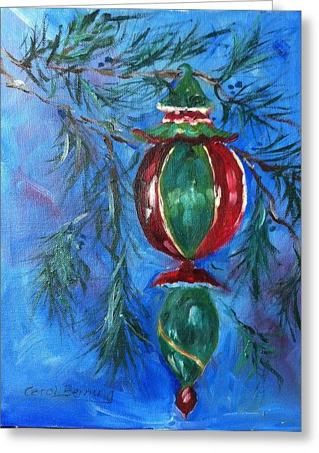 Greeting Card featuring the painting Deck The Halls by Carol Berning