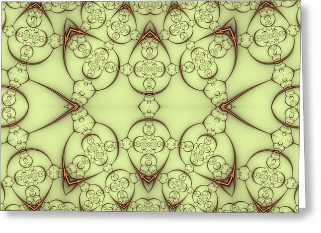 Decorative Wirework Greeting Card by Mark Eggleston