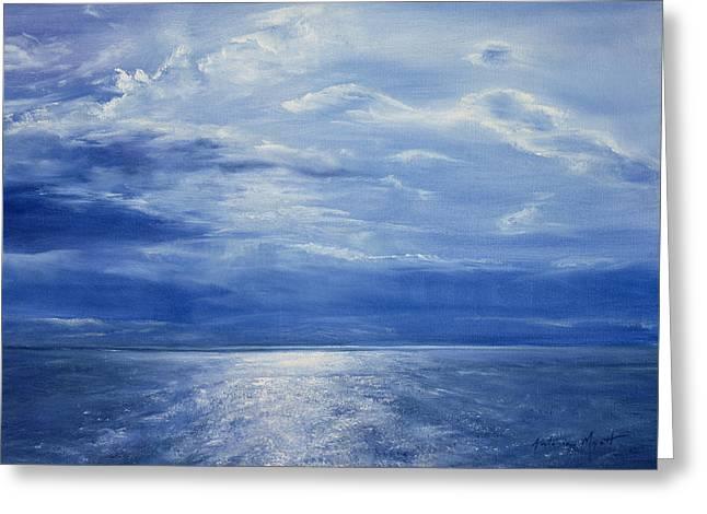 Deep Blue Sea Greeting Card by Antonia Myatt