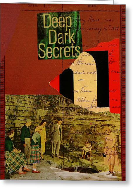 Deep Dark Secrets Greeting Card by Adam Kissel