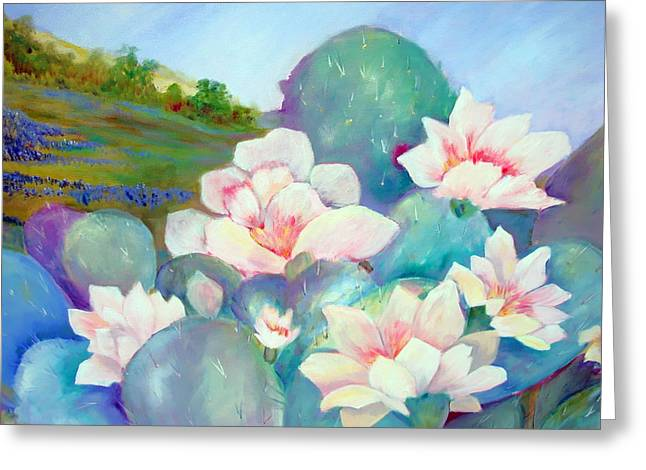 Greeting Card featuring the painting Deep In The Heart Of Texas by AnnE Dentler
