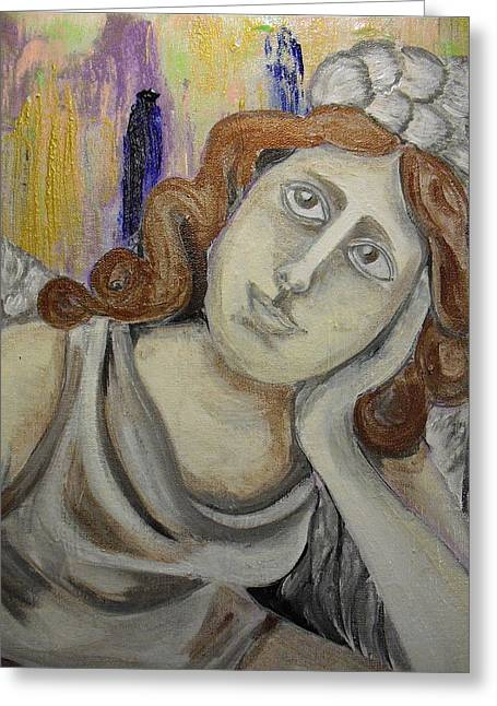 Deep In Thought Greeting Card by Melissa Torres