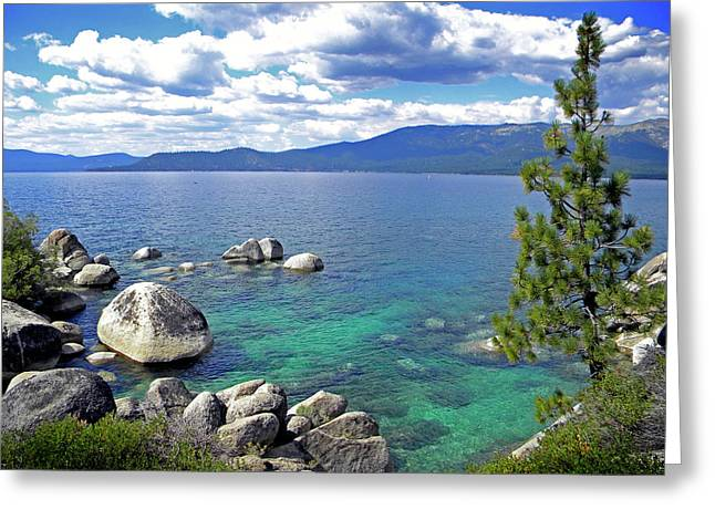 Deep Waters Lake Tahoe Greeting Card