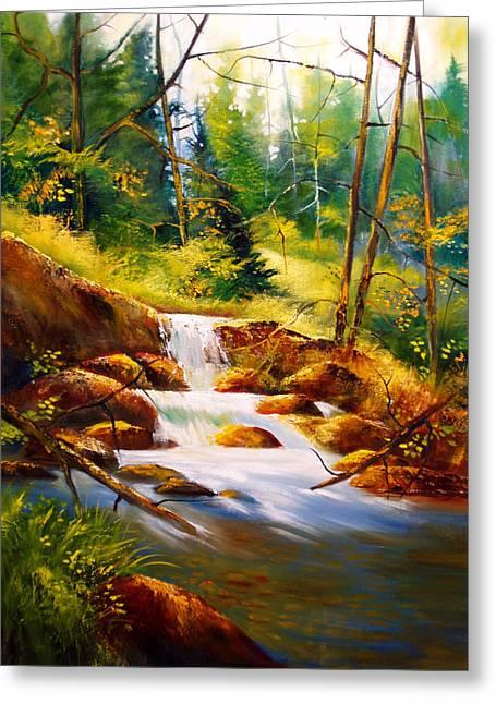 Deep Woods Beauty Greeting Card by Robert Carver