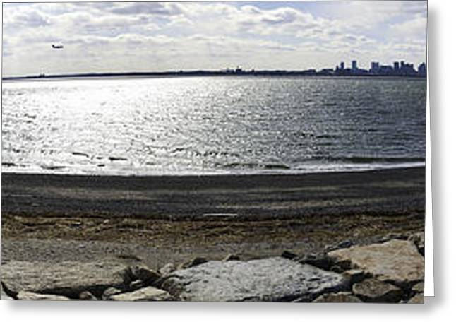 Deer Island Pano Greeting Card by Andrew Kubica