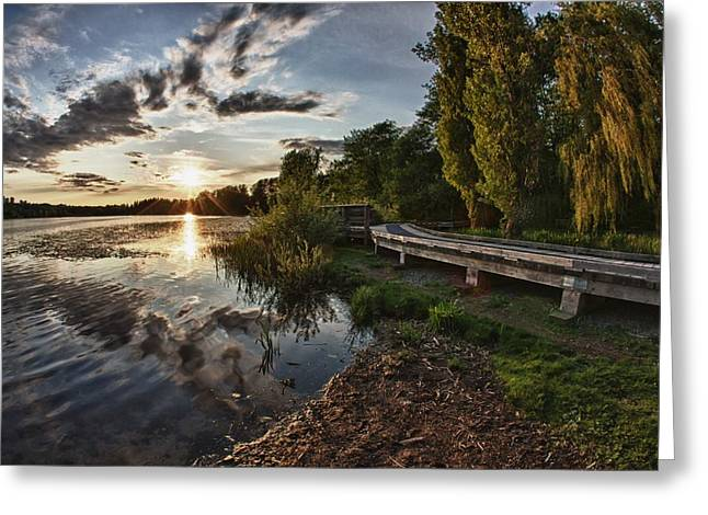 Greeting Card featuring the photograph Deer Lake Boardwalk by Scott Holmes