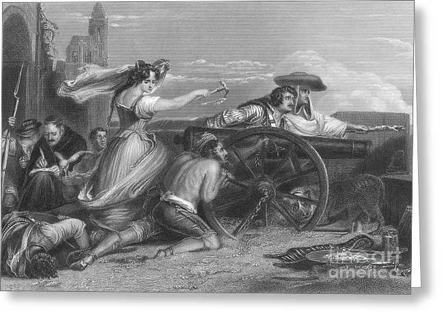 Defense Of Saragossa, 1808 Greeting Card by Granger