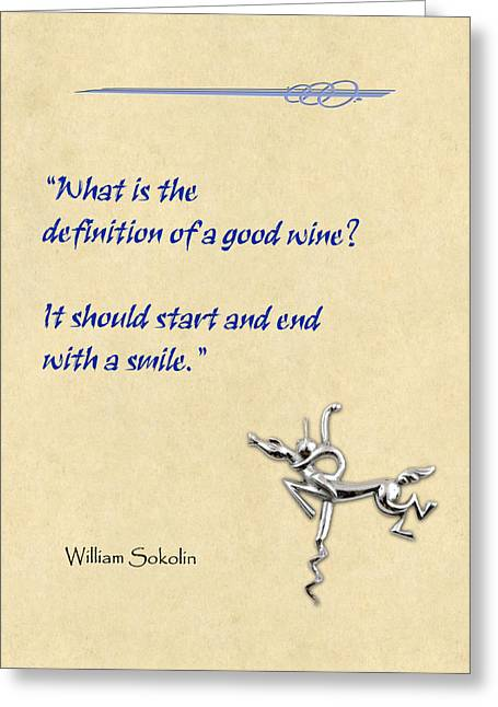 Definition Of Wine Greeting Card