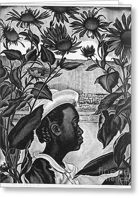 Deines: Flowers Of Westport Greeting Card by Granger