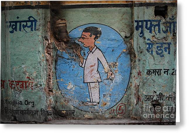 Delhi Smoker Greeting Card by Jen Bodendorfer