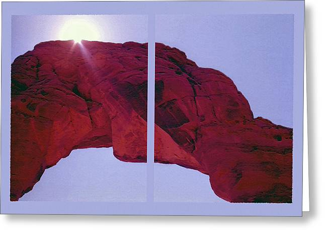 Delicate Arch Diptych Greeting Card by Steve Ohlsen
