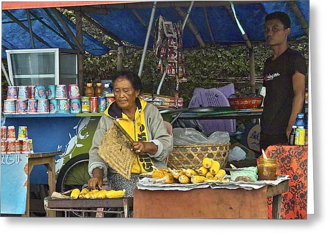 Delicious Corn - Bali Greeting Card