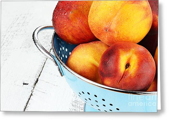 Delicious Peaches Greeting Card by Stephanie Frey