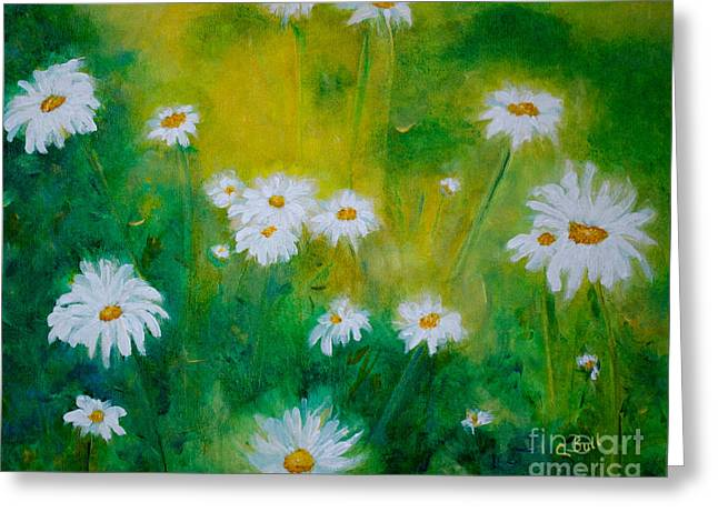 Delightful Daisies Greeting Card by Claire Bull
