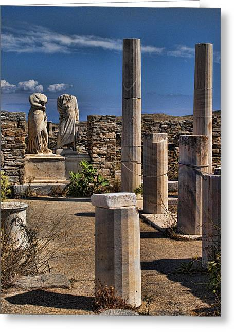 Delos Island Greeting Card