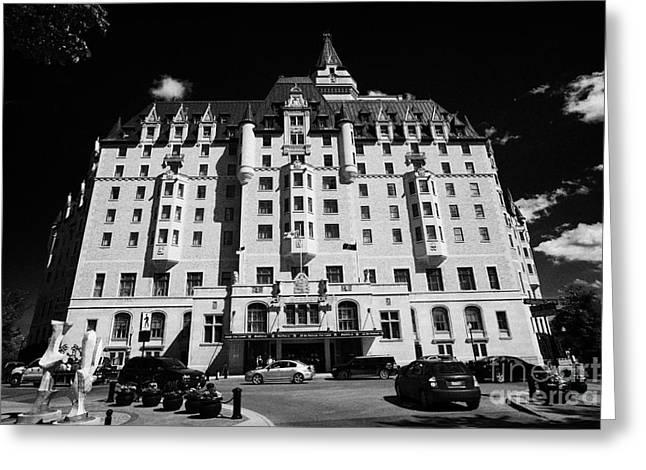 delta bessborough hotel downtown Saskatoon Saskatchewan Canada Greeting Card by Joe Fox
