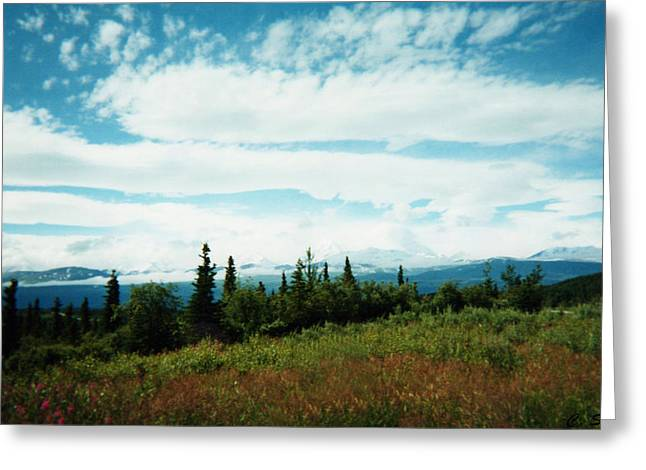 Denali Sleeps Behind Clouds Greeting Card