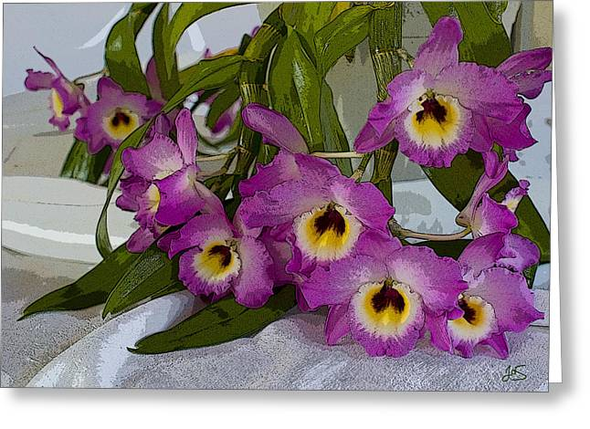 Dendrobium Delight Greeting Card by Joanne Smoley