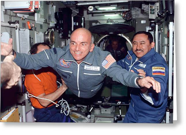 Dennis Tito, First Space Tourist Greeting Card by Nasa