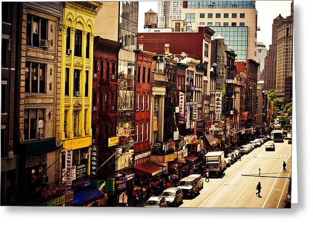 Density - Above Chinatown - New York City Greeting Card